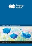 Bloc desen, pentru acuarele, A4, 250gsm, 10 coli, Happy Color