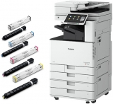 Pachet Multifunctional laser color Canon imageRUNNER Advance DX 3725i + DADF-BA1 + Piedestal S2 + cartuse toner C-EXV49 BK/C/M/Y