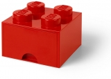 Cutie depozitare 40051730 LEGO 2x2 cu sertar, rosu