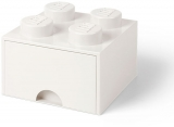 Cutie depozitare 40051735 LEGO 2x2 cu sertar, alb