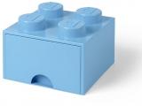 Cutie depozitare 40051736 LEGO 2x2 cu sertar, albastru deschis