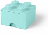 Cutie depozitare 40051742 LEGO 2x2 cu sertar, aqua