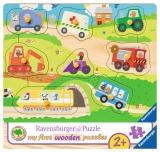 Puzzle Din Lemn Cu Vehicule, 8 Piese Ravensburger