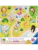 Puzzle Din Lemn Animale Zoo, 8 Piese Ravensburger