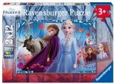 Puzzle Frozen Ii, 2X12 Piese Ravensburger