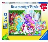 Puzzle Unicorni Magici, 2X12 Piese Ravensburger