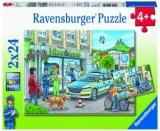Puzzle Ancheta Politie, 2X24 Piese Ravensburger