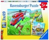Puzzle Deasupra Norilor, 3X49 Piese Ravensburger