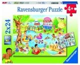 Puzzle Distractie La Lac, 2X24 Piese Ravensburger