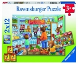 Puzzle Magazin Alimentar, 2X12 Piese Ravensburger