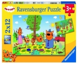 Puzzle Kid E Cats, 2X12 Piese Ravensburger