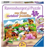 Puzzle Animale La Ferma, 12 Piese Ravensburger