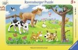 Puzzle Animale Prieteni, 15 Piese Ravensburger