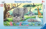 Puzzle Animale Din Africa, 15 Piese Ravensburger