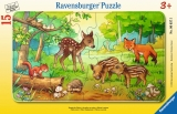 Puzzle Animale In Padure, 15 Piese Ravensburger