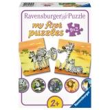 Puzzle Familii Animale, 9X2 Piese Ravensburger