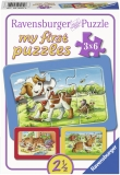 Puzzle Animalute, 3X6 Piese Ravensburger