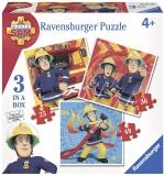 Puzzle Pompier Sam 25/36/49 Piese Ravensburger
