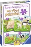 Puzzle Animale De La Ferma, 2/4/6/8 Piese Ravensburger