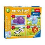 Puzzle Safari, 2/3/4/5 Piese Ravensburger