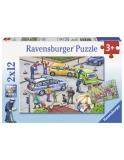 Puzzle Politie, 2X12 Piese Ravensburger
