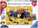 Puzzle Pompierul Sam, 2X12 Piese Ravensburger