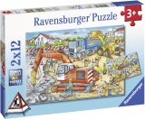 Puzzle Santier In Lucru, 2X12 Piese Ravensburger