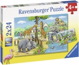 Puzzle Zoo, 2X24 Piese Ravensburger