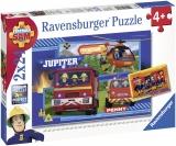 Puzzle Echipa Pompier Sam,2X24Piese Ravensburger