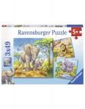 Puzzle Animale, 3X49 Piese Ravensburger