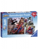 Puzzle Spiderman, 3X49 Piese Ravensburger