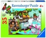 Puzzle Animale De La Zoo, 35 Piese Ravensburger
