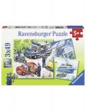 Puzzle Politie, 3X49 Piese Ravensburger