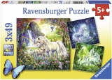 Puzzle Unicorni, 3X49 Piese Ravensburger