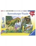 Puzzle Dinozauri, 3X49 Piese Ravensburger