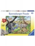 Puzzle Animale Safari, 60 Piese Ravensburger