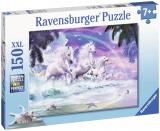 Puzzle Unicorni Pe Plaja, 150 Piese Ravensburger