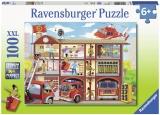 Puzzle Pompieri Salvatori,100 Piese Ravensburger