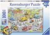 Puzzle Utilaje In Oras, 100 Piese Ravensburger
