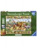 Puzzle Dinozauri, 100 Piese Ravensburger