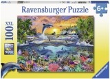 Puzzle Paradis Tropical, 100 Piese Ravensburger