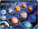 Puzzle 3D Sistemul Solar, 27/54/72/108 Piese Ravensburger
