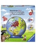 Puzzle 3D Glob, 72 Piese Ravensburger