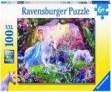 Puzzle Zana Si Unicorn, 100 Piese Ravensburger