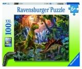 Puzzle Oaza Dinozaurilor, 100 Piese Ravensburger