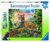 Puzzle Tigru La Rasarit, 300 Piese Ravensburger