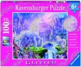 Puzzle Unicorn Cu Sclipici, 100 Piese Ravensburger