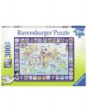 Puzzle Privind Lumea, 300 Piese Ravensburger