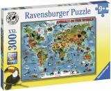 Puzzle Harta Animalelor, 300 Piese Ravensburger
