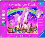 Puzzle Unicorn Si Curcubeu, 100 Piese Ravensburger